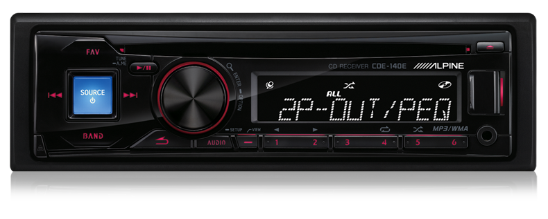 Alpine CDE-140e CD Receiver