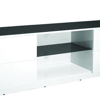 AVS TV/AV 1700mm Cabinet White Gloss, Dark Grey Glass