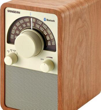 Sangean WR-15BT FM / AM / Bluetooth Wooden Cabinet Receiver