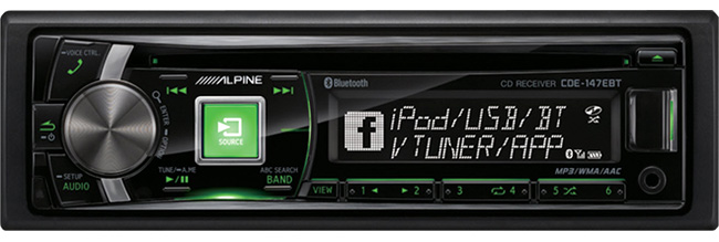 Alpine CDE-147ebt CD Receiver with Bluetooth