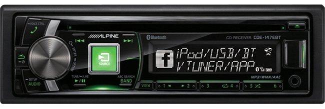 Alpine CDE-147ebt CD Receiver with Bluetooth