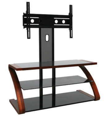 "OMP 3 Shelf 37-52"" TV Stand Walnut with Pivoting Mount - Hikurangi"