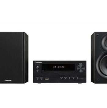 Pioneer X-HM32V Micro System with iPhone playback, DVD, CD, FM Tuner, HDMI, and Bluetooth