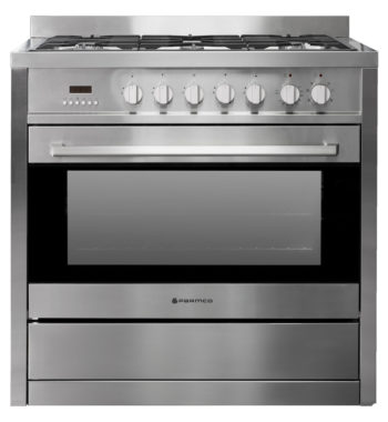 Parmco AR 900 900mm Combination Freestanding Stove, Stainless Steel