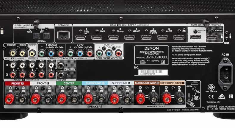 Denon AV Receiver AVR-X2400H FREE DELIVERY