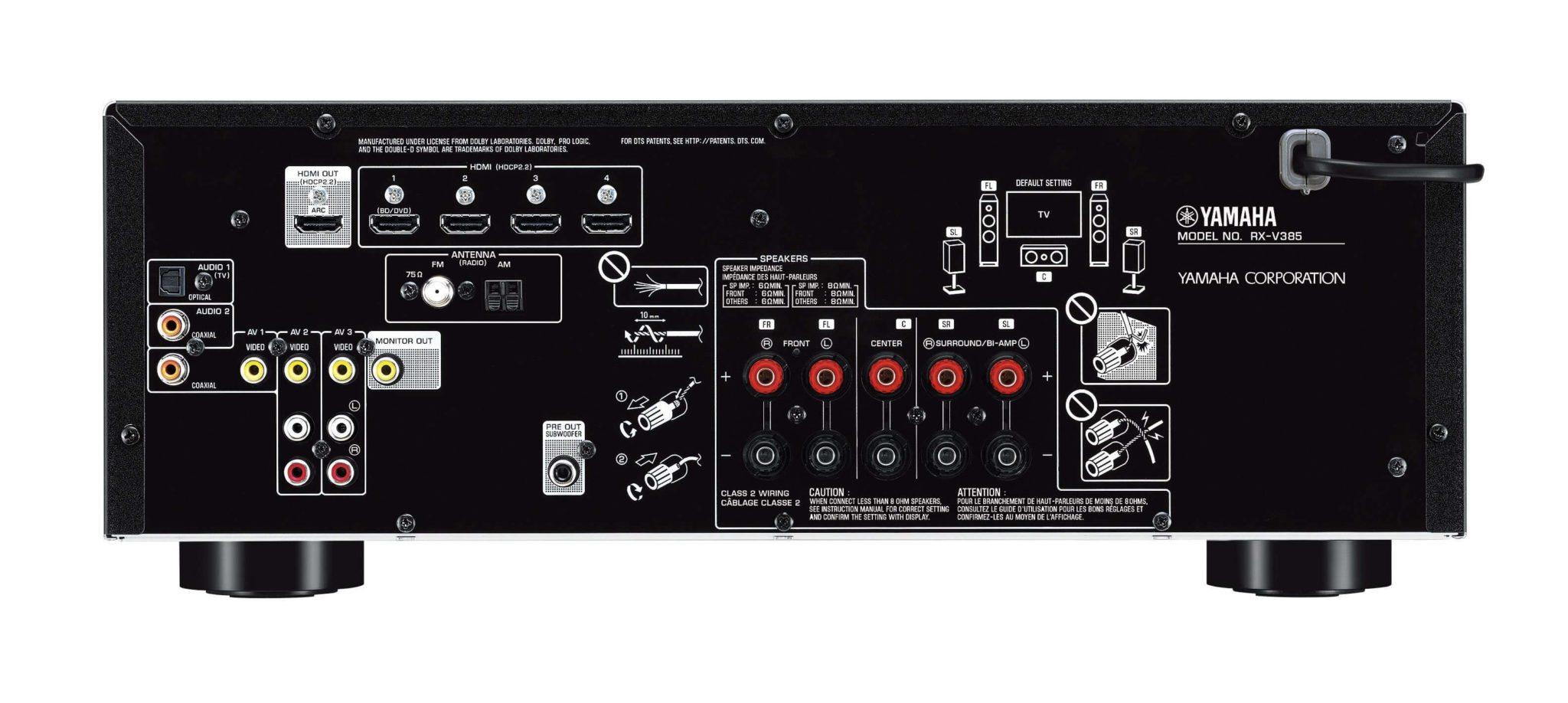 yamaha rx v385 5 1 channel av receiver gary anderson. Black Bedroom Furniture Sets. Home Design Ideas