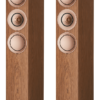 KEF R7 Walnut Premium Three Way Floor Standing Speaker. SALE